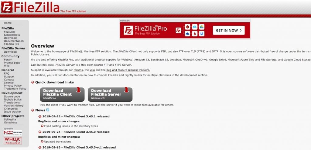 filezilla 1024x496 - Top FTP Client / Software to Transfer Web Files & WordPress user