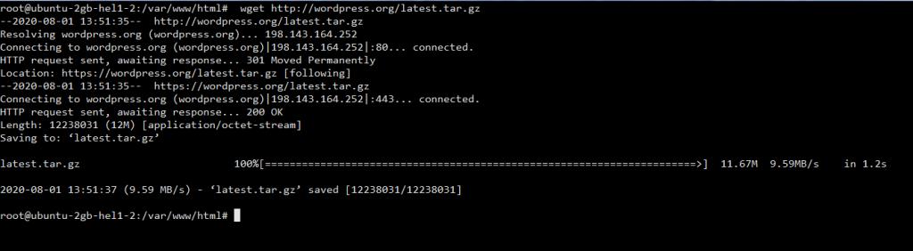 download wordpress in ubuntu 1024x282 - How to Install WordPress with Nginx on Debian and Ubuntu in 20 steps