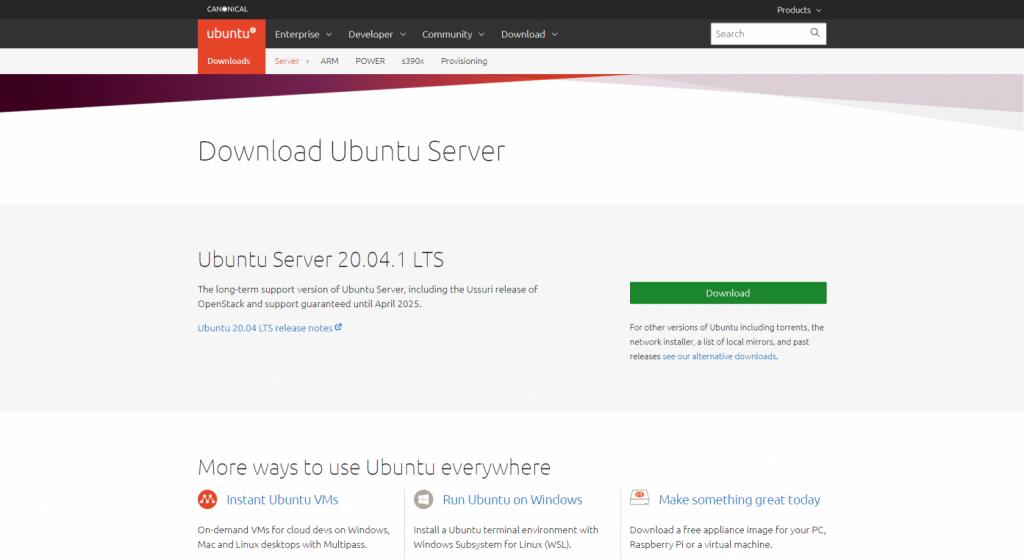 ubuntu server 1536x839 1 1024x559 - Best Linux server distros