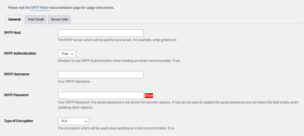 smtp mailer setting 1024x458 - How to send email via smtp with WordPress smtp mailer plugin?