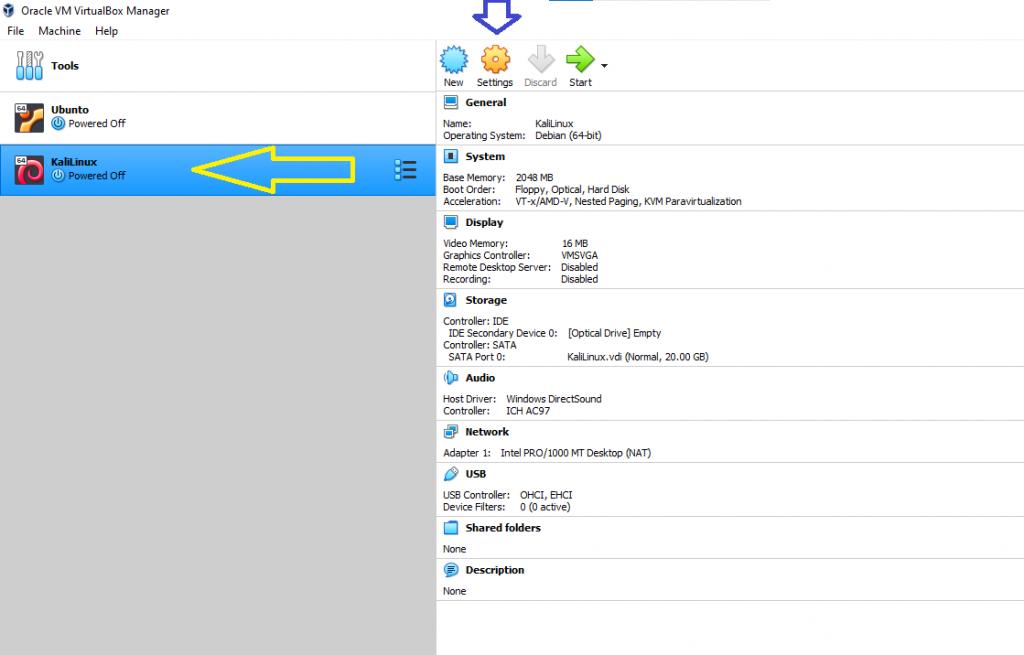 vbox kali 4 1024x655 - How to install KaliLinux in VirtualBox