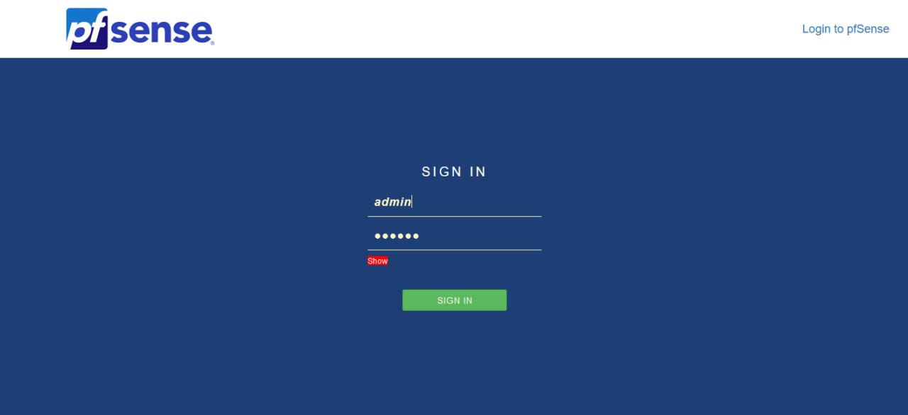 pfsense login 1280x586 - How to download OpenVPN profiles in pfsense