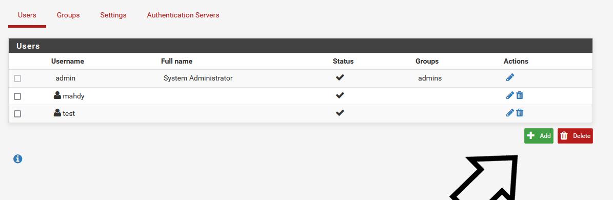 pfsense user manager add new user - How Add New OpenVPN User in Pfsense
