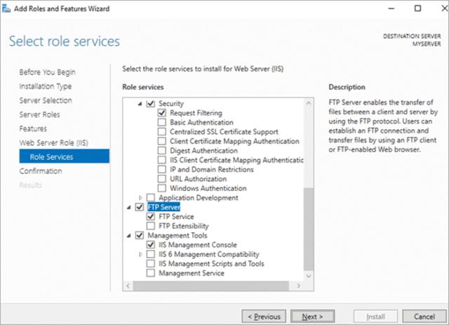 IIS FTPS NEW 640x463 - Top & Best Free FTP Server Software in 2021
